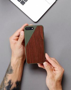 Native Union Чехол для iPhone 7 plus с деревянной вставкой Premium. Цвет: мульти
