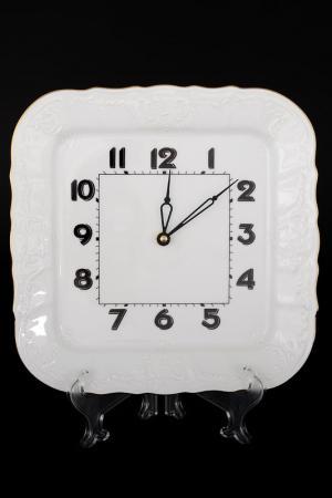 Часы квадратные 26 см BERNADOTTE. Цвет: белый, золотой