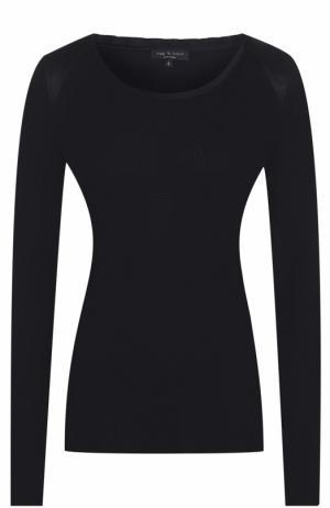Пуловер фактурной вязки с круглым вырезом Rag&Bone. Цвет: черный