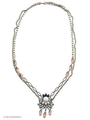 Колье Milana Style. Цвет: золотистый, серебристый, розовый