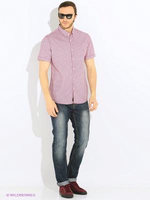 Рубашка E-Bound by Earth Bound. Цвет: бледно-розовый, белый