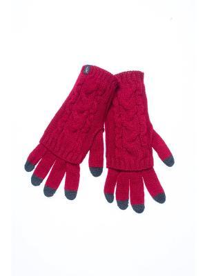 Перчатки FOMAS. Цвет: бордовый