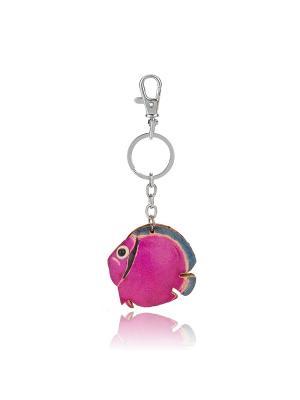 Брелок Рыбка (розовый) Honey Jewelry. Цвет: розовый