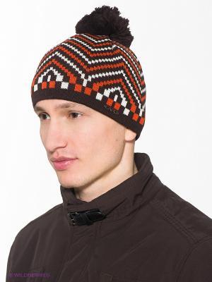 Шапка Capo. Цвет: темно-коричневый, оранжевый