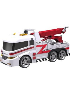 Машинка Roadsterz Эвакуатор со светом и звуком HTI. Цвет: белый