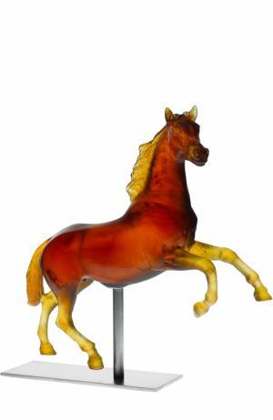 Скульптура Лошадь Daum. Цвет: коричневый