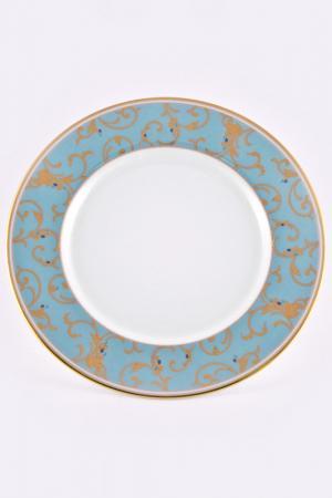 Набор тарелок 16,5 см, 6 шт. Narumi. Цвет: голубой, золотой