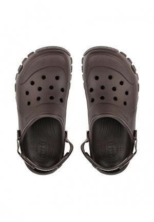 Сабо Crocs. Цвет: коричневый