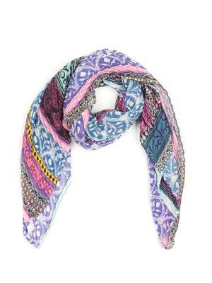 Платок Pretty Mania. Цвет: голубой, розовый, фиолетовый