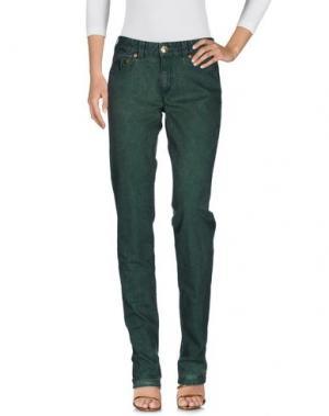 Джинсовые брюки BARBA Napoli. Цвет: зеленый
