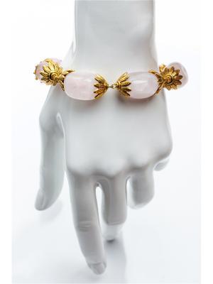 Браслет РОЗОВЫЙ КВАРЦ Anastasiya Usoltseva. Цвет: золотистый, белый, розовый