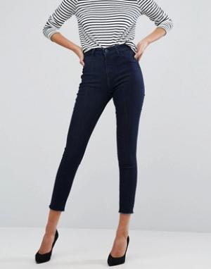 DL1961 Супероблегающие укороченные джинсы Jessica Alba X DL No. 2. Цвет: синий