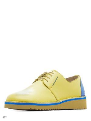 Туфли renne. Цвет: желтый