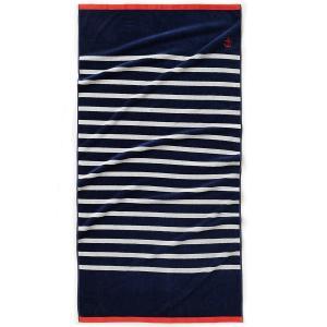 Полотенце пляжное в морском стиле, 100% хлопка La Redoute Interieurs. Цвет: синий/ белый