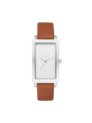 Часы SKAGEN. Цвет: белый, коричневый, серебристый