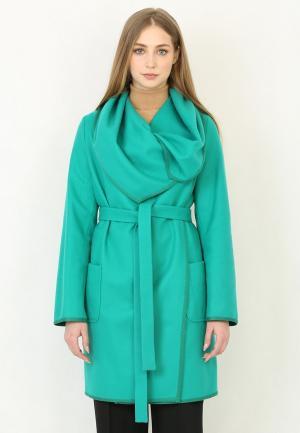 Пальто Trifo. Цвет: бирюзовый