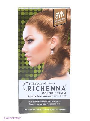 Крем-краска для волос с хной № 8YN (Light Golden Blonde) Richenna. Цвет: золотистый