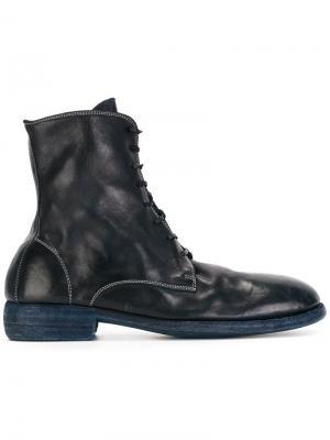 Сапоги со шнуровкой Guidi. Цвет: синий