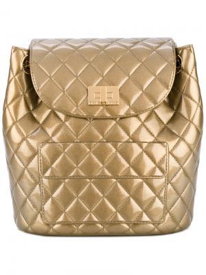 Стеганый рюкзак Designinverso. Цвет: металлический