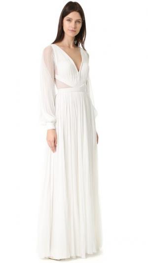 Вечернее платье Camilla с длинными рукавами и V-образным вырезом J. Mendel. Цвет: золотой