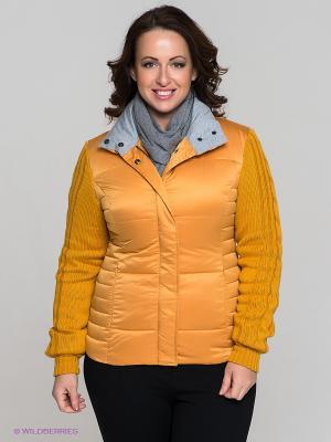 Куртка La Reine Blanche. Цвет: горчичный