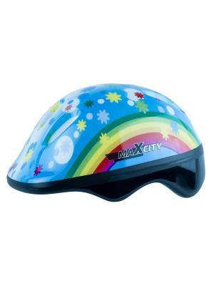 Роликовый шлем BABYRAINBOW MAXCITY. Цвет: голубой