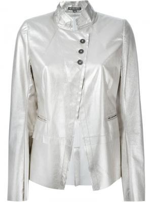 Куртка Angelina Ann Demeulemeester. Цвет: металлический