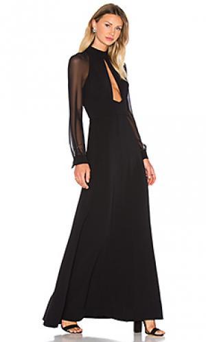 Вечернее платье с высоким воротом JILL STUART. Цвет: черный