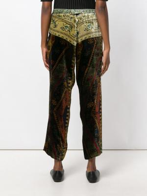 Укороченные брюки с вышивкой Pierre-Louis Mascia. Цвет: многоцветный