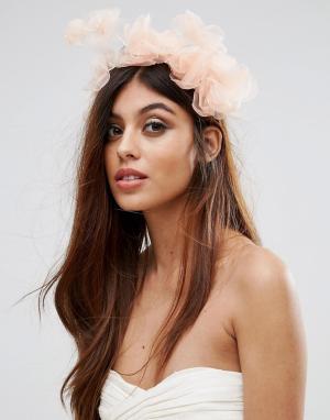 Johnny Loves Rosie Пыльно-розовое украшение для волос с цветами Rose. Цвет: розовый