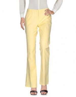 Повседневные брюки GOOD MOOD. Цвет: желтый