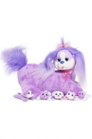Собачка Кэнди и ее щенки Just Play. Цвет: сиреневый, белый
