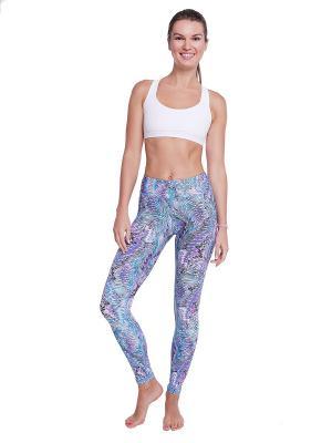 Тайтсы Urban Yoga. Цвет: морская волна, темно-фиолетовый