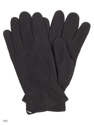 Перчатки fleece gloves PUMA. Цвет: черный