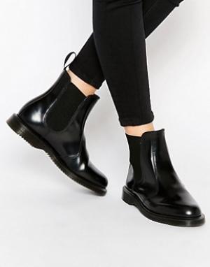 Dr Martens Черные ботинки челси Kensington Flora. Цвет: черный