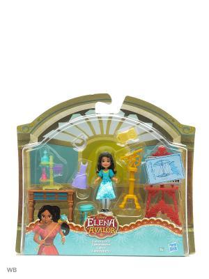 Игровой набор для маленьких кукол Елена - принцесса Авалора Disney Princess. Цвет: голубой