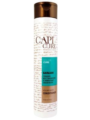 Бальзам CapiCure  Глубокое восстановление и Эффектный объем волос, 300 мл. Цвет: белый