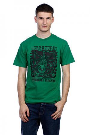 Футболка  Incendio Kelly Green Creature. Цвет: зеленый