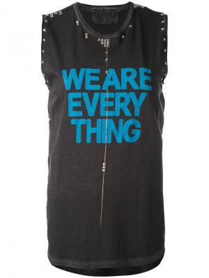 Топ We Are Everything Freecity. Цвет: серый