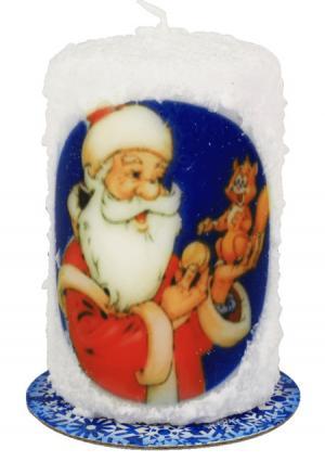 Новогодняя свеча Russian Elka. Цвет: разноцветный (мультиколор)