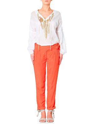 Брюки APART. Цвет: оранжевый