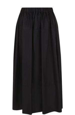 Однотонная юбка-миди с эластичным поясом Simone Rocha. Цвет: черный