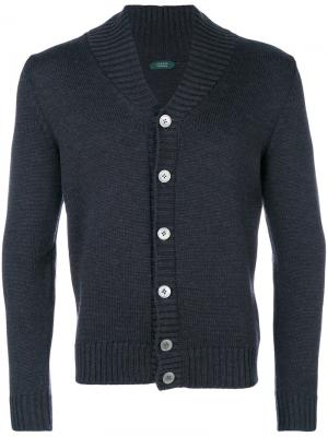 Shawl collar cardigan Zanone. Цвет: чёрный