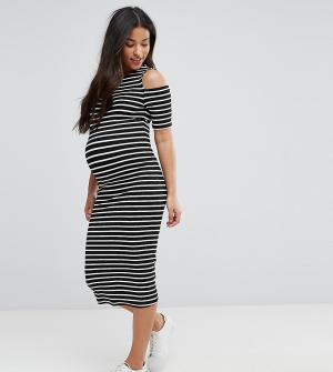 ASOS Maternity Облегающее платье в полоску для беременных. Цвет: мульти