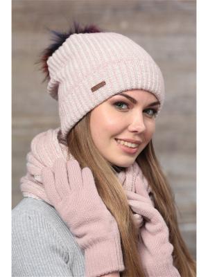 Шапка FOMAS. Цвет: розовый, молочный