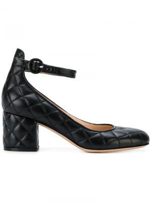 Стеганые туфли-лодочки Greta Gianvito Rossi. Цвет: чёрный