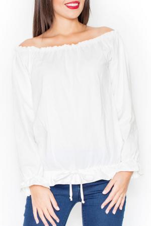 Блуза KATRUS. Цвет: ecru