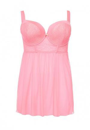 Сорочка ночная Curvy Kate. Цвет: розовый
