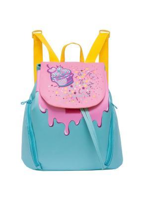 Рюкзак Grizzly. Цвет: голубой, розовый