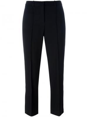 Укороченные брюки прямого кроя Theory. Цвет: чёрный